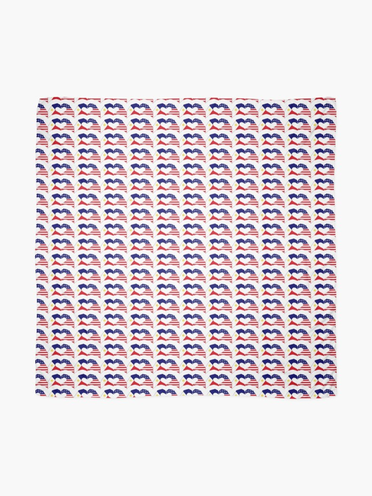 Alternate view of We Heart Philippines & U.S.A. Patriot Flag Series Scarf