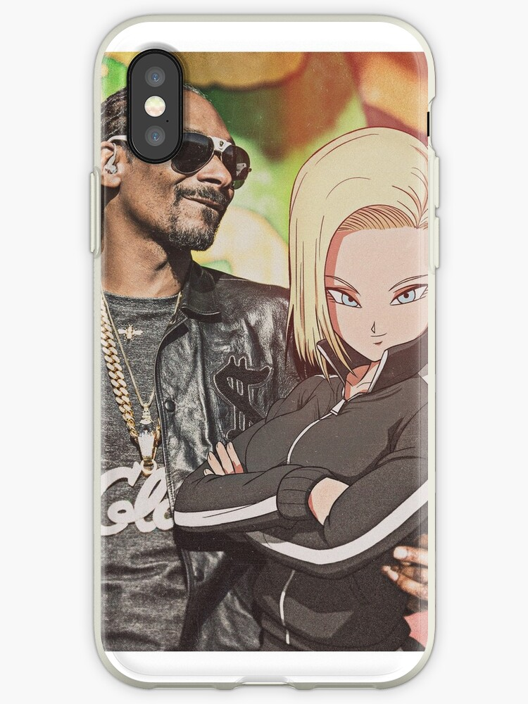 official photos ba4ba 83cd6 'Android 18 feat. Snoop Dogg' iPhone Case by Gangstas with Waifus