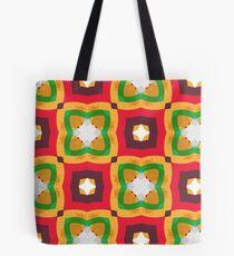 rings kunterbunt abstract circle seamless colorful repeat pattern Tote Bag