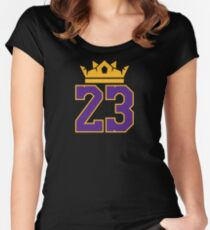 King 23 Lebron James Lakers T-Shirt Women's Fitted Scoop T-Shirt