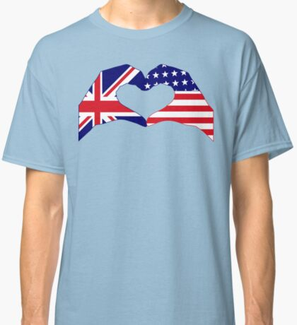 We Heart UK & USA Patriot Flag Series Classic T-Shirt