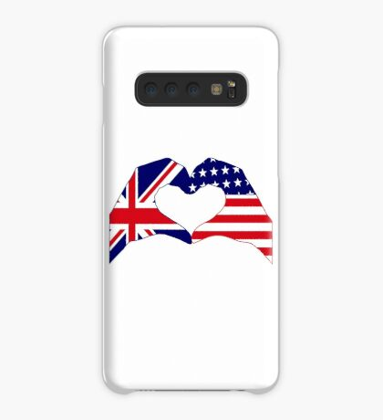We Heart UK & USA Patriot Flag Series Case/Skin for Samsung Galaxy
