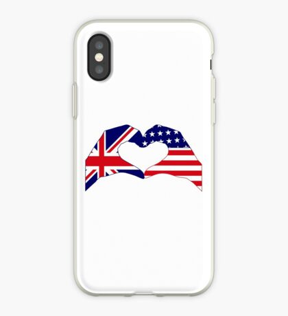 We Heart UK & USA Patriot Flag Series iPhone Case