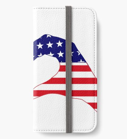 We Heart UK & USA Patriot Flag Series iPhone Wallet