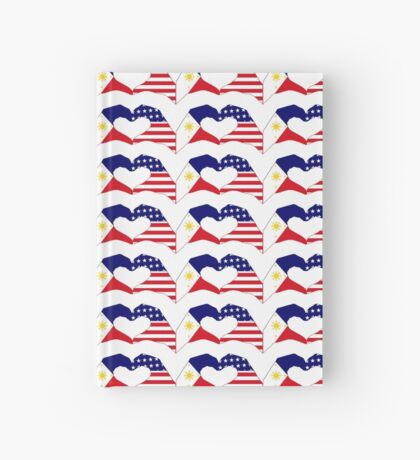 We Heart Philippines & U.S.A. Patriot Flag Series Hardcover Journal