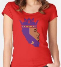 Lebron James The King Lakers T-Shirt Women's Fitted Scoop T-Shirt