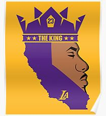 Lebron James The King Lakers T-Shirt Poster