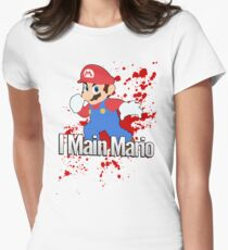 I Main Mario - Super Smash Bros. Womens Fitted T-Shirt