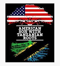 American Son With Tanzanian Roots - Gift For Tanzanian Son Photographic Print
