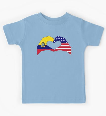 We Heart Ecuador & USA Patriot Flag Series Kids Clothes