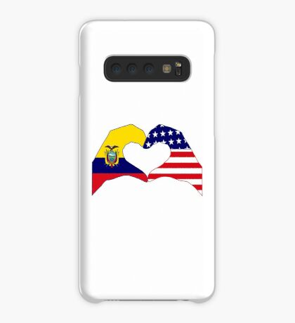 We Heart Ecuador & USA Patriot Flag Series Case/Skin for Samsung Galaxy