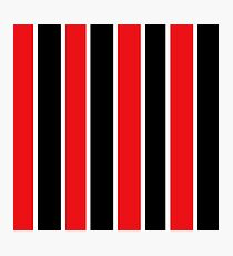 Red White and Black-Striped Photographic Print