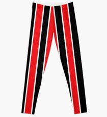 Red White and Black-Striped Leggings