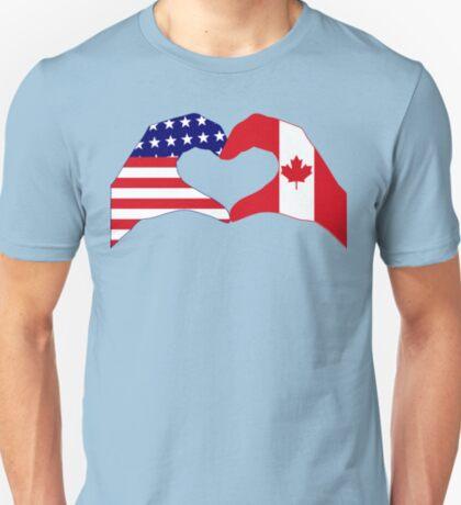 We Heart USA & Canada Patriot Flag Series T-Shirt