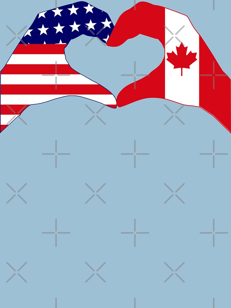 We Heart USA & Canada Patriot Flag Series by carbonfibreme