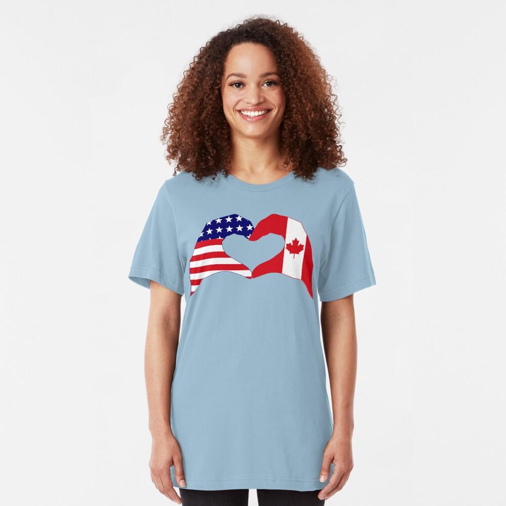 We Heart USA & Canada Patriot Flag Series Slim Fit T-Shirt