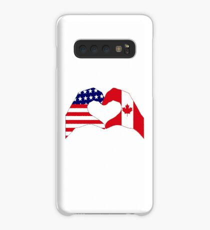 We Heart USA & Canada Patriot Flag Series Case/Skin for Samsung Galaxy