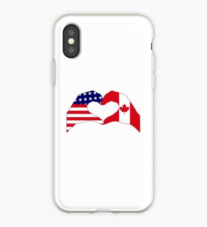 We Heart USA & Canada Patriot Flag Series iPhone Case