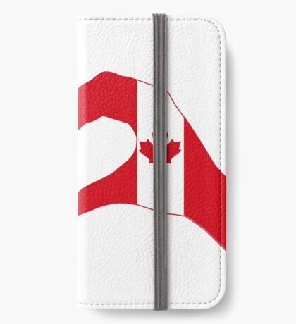 We Heart USA & Canada Patriot Flag Series iPhone Wallet