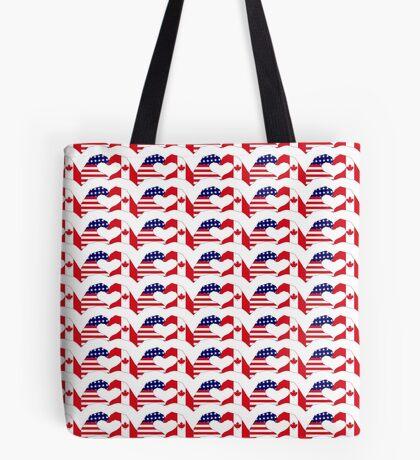 We Heart USA & Canada Patriot Flag Series Tote Bag
