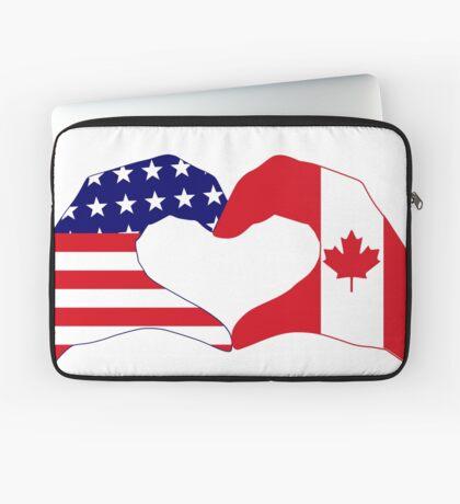 We Heart USA & Canada Patriot Flag Series Laptop Sleeve