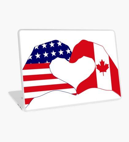 We Heart USA & Canada Patriot Flag Series Laptop Skin