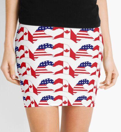 We Heart USA & Canada Patriot Flag Series Mini Skirt