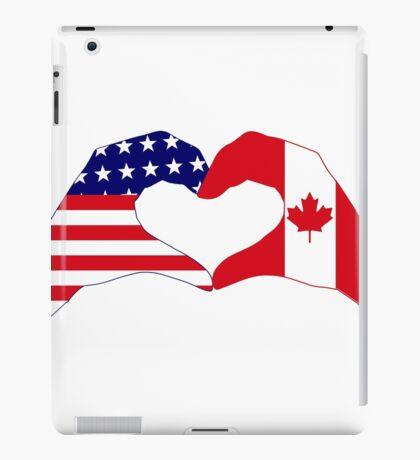 We Heart USA & Canada Patriot Flag Series iPad Case/Skin