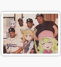 Straight Outta Compton feat. Miss Kobayashi's Dragon Maid Sticker