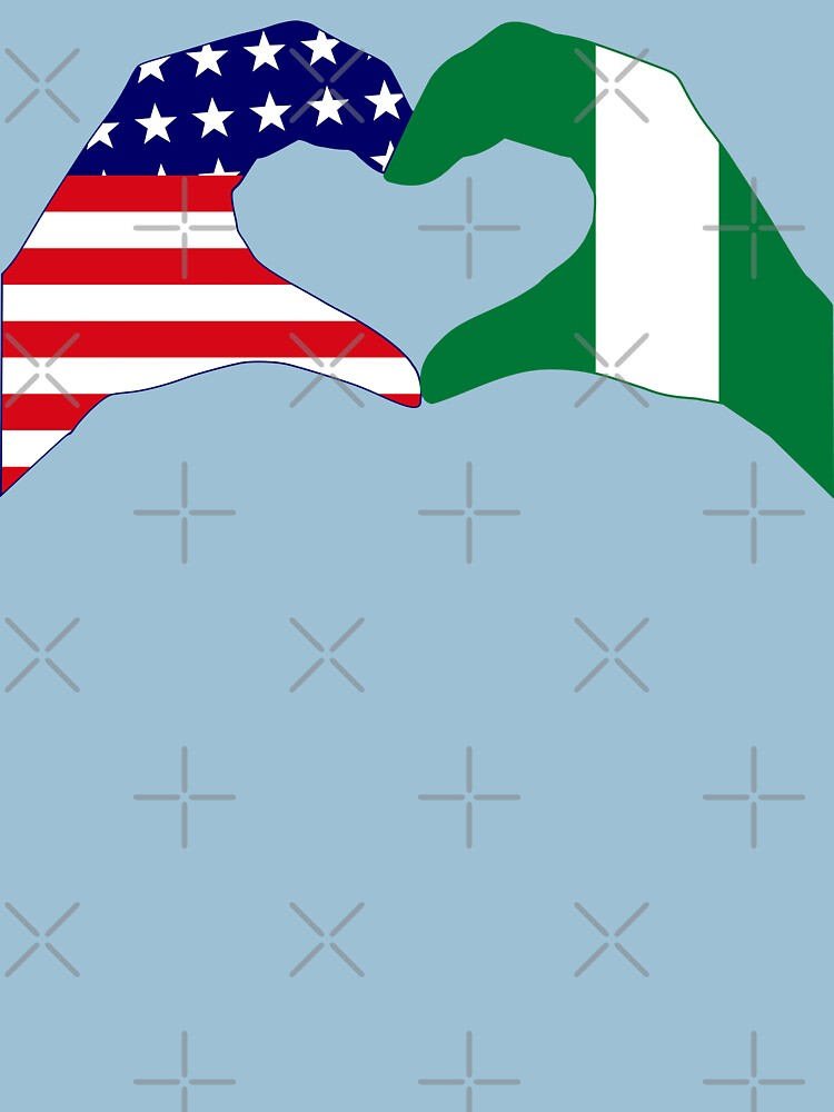 We Heart USA & Nigeria Patriot Flag Series by carbonfibreme