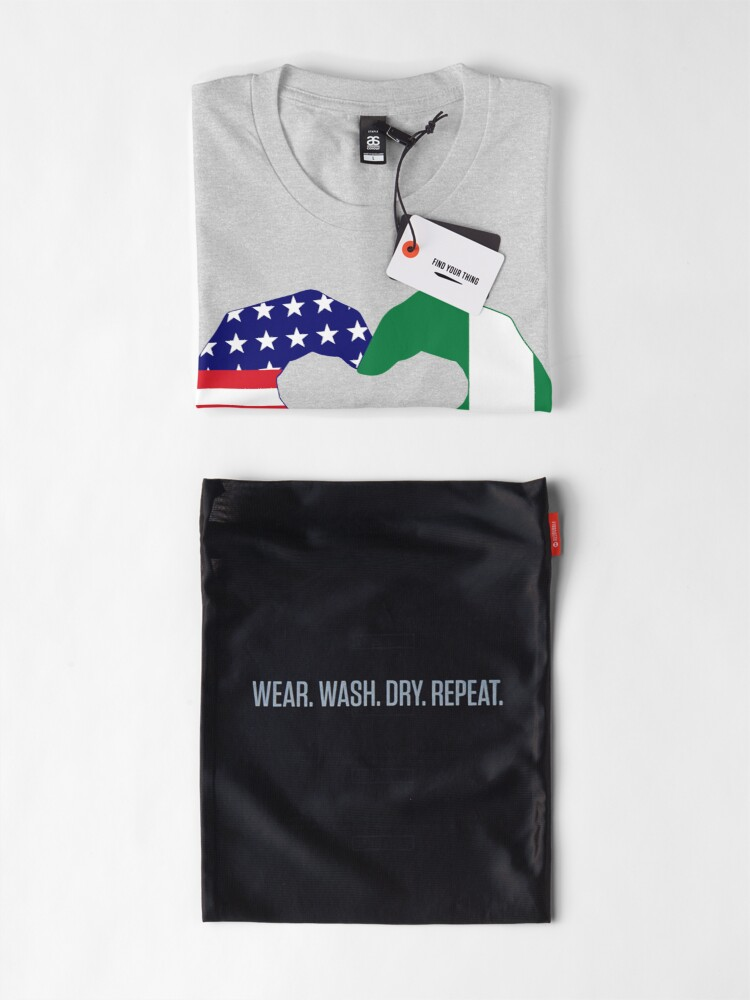 Alternate view of We Heart USA & Nigeria Patriot Flag Series Premium T-Shirt
