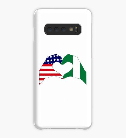 We Heart USA & Nigeria Patriot Flag Series Case/Skin for Samsung Galaxy