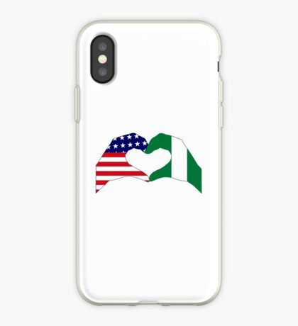 We Heart USA & Nigeria Patriot Flag Series iPhone Case