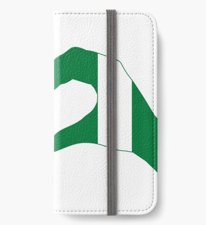 We Heart USA & Nigeria Patriot Flag Series iPhone Wallet