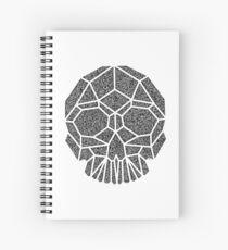 Geometric Skull Spiral Notebook