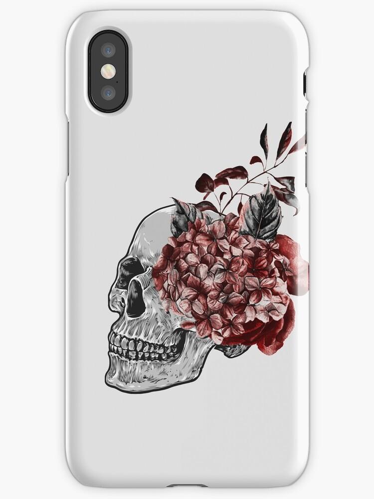 Floral Skull - Anatomical Summer Flowers by kaespo