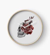 Floral Skull - Anatomical Summer Flowers Clock