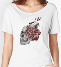 Floral Skull - Anatomical Summer Flowers Women's Relaxed Fit T-Shirt