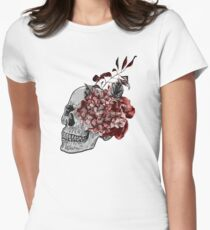 Floral Skull - Anatomical Summer Flowers Women's Fitted T-Shirt