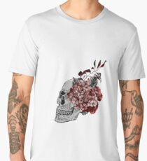 Floral Skull - Anatomical Summer Flowers Men's Premium T-Shirt