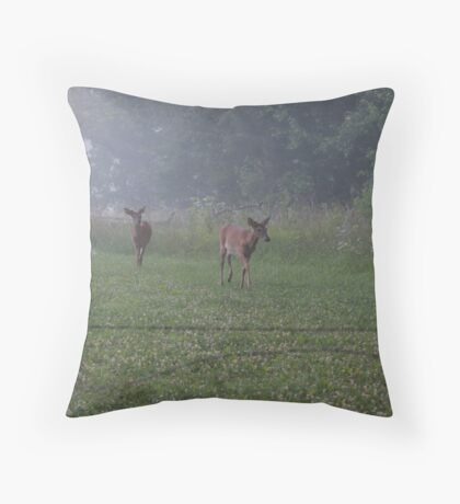 Whitetail in the Cove Throw Pillow