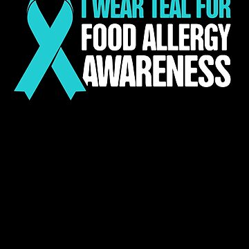 Teal Ribbon - Food Allergy Awareness by EMDdesign
