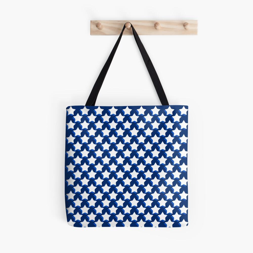 Stars On Blue Tote Bag