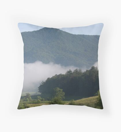 Cades Cove Early Morning Throw Pillow