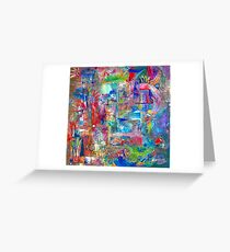 Busy Girl Greeting Card