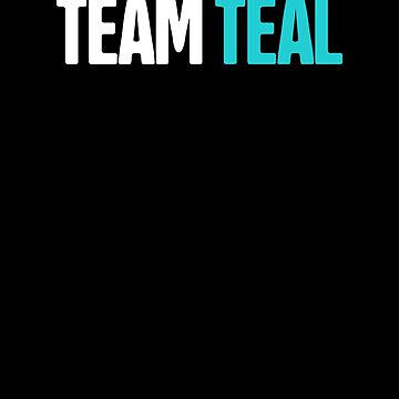 Team - Teal Ribbon Food Allergy Awareness by EMDdesign