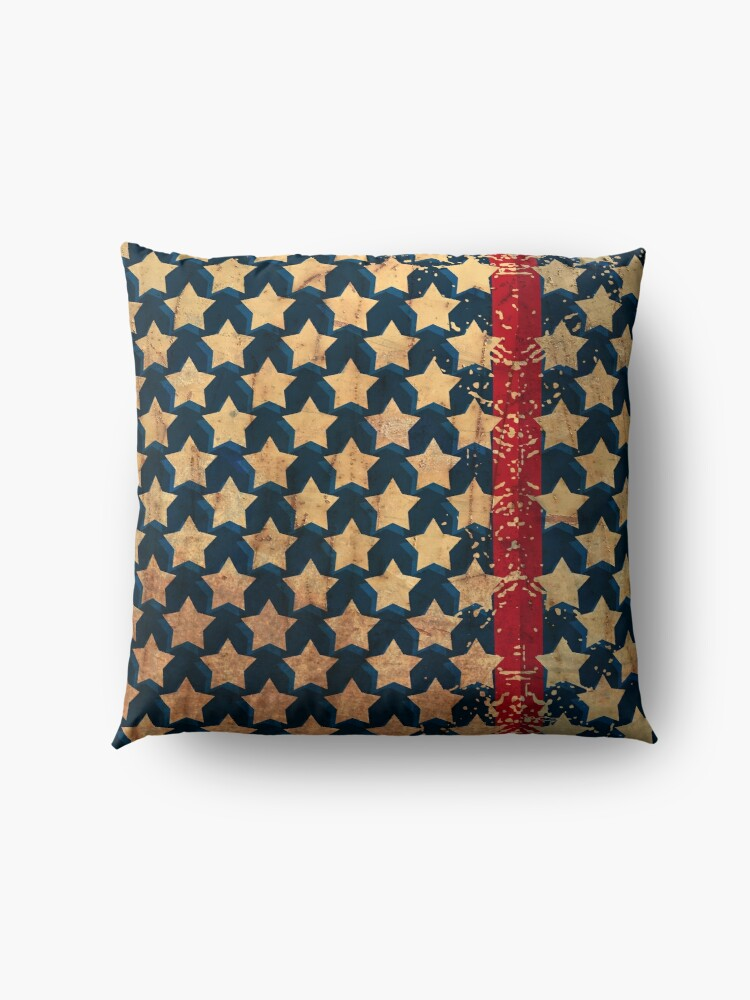 Alternate view of Stars and Stripes Distressed Look Floor Pillow