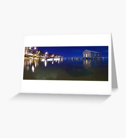 Crawley Edge Boatshed  Greeting Card