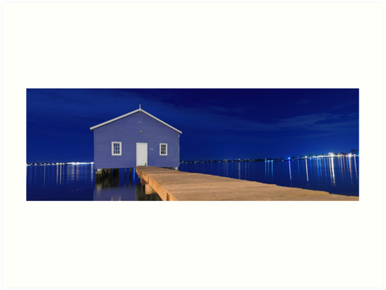 Crawley Edge Boatshed Panorama  by EOS20