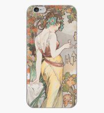 HD. Cognac Bisquit - Paris, von Alphonse Mucha (1899) HIGH DEFINITION (Originalfarben) iPhone-Hülle & Cover